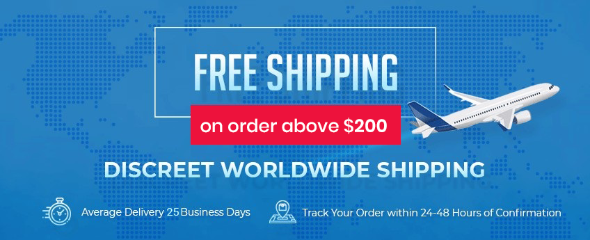 Free Regular Shipping on orders above $100 and Free Express Shipping on orders above $250