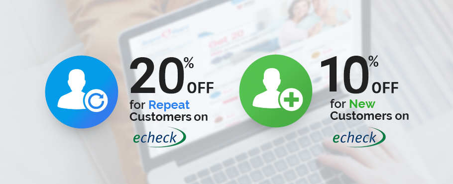 20% OFF for Repeat Customers and 10% OFF for New Customers